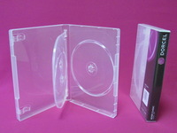 High quality storage box 22mm multi 1-6discs dvd cover