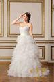 Glamour sexy bretelles spaghetti robe de bal princesse chic, blanc en forme et arrondi robe de mariée 2015 volants des robes de mariée en ligne