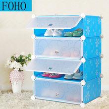 Di plastica alla moda blu traslucenza porta bianca circolare fh-aw0845-4 scarpiera