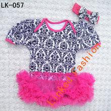 wholesale baby girl dress red chevron cotton baby dress