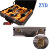 aluminum wine carrying case, portable wine carrier, wine case ZYD-0723