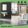Fashion design ! building construction ceramic bathroom three pcs one set,washdown toilet/wall-hung basin/bidet