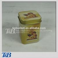 Galvanized tin box, Tea can