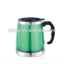 600ML plastic outer stainless inner travel mug