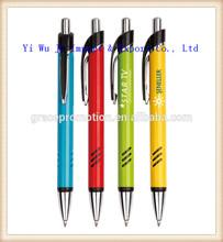Simple design promotion plastic ball pen, cheap logo print pen