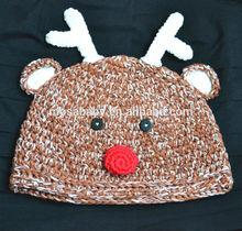 Crochet Children Hat ,Baby Animal Hat Reindeer Hat ,Animal Beanie Photo Prop