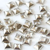 High Quality Silver Metal square pyramid Rivets Spikes Studs garment factory for apparel bags shoes belts DIY