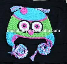 Crochet Children Hat ,Toddler Kids Hat colorful OWL Hat ,Animal Beanie