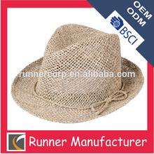 Wholesale custom paper braid straw fedora hat