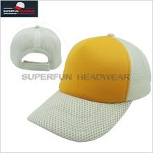 5 panel Plain dyed blank trucker cap