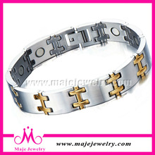 Cheap wholesale stainless steel bio health magnetic bracelets