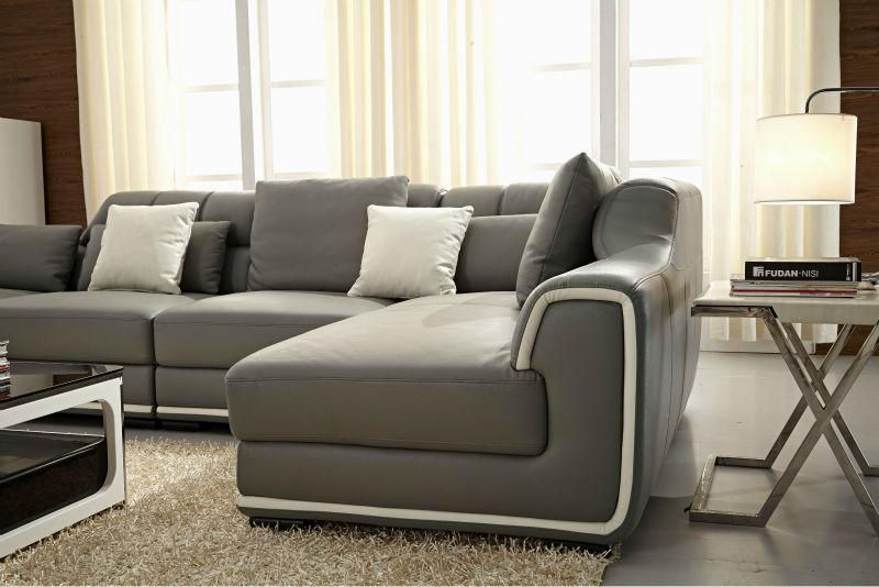 Divano ad angolo piccoli per soggiorno moderno divano ad - Divano ad angolo in pelle ...