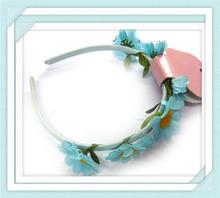 metal headband girl ribbon faux braid hair band