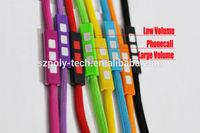 string shoelace headphone in various colors