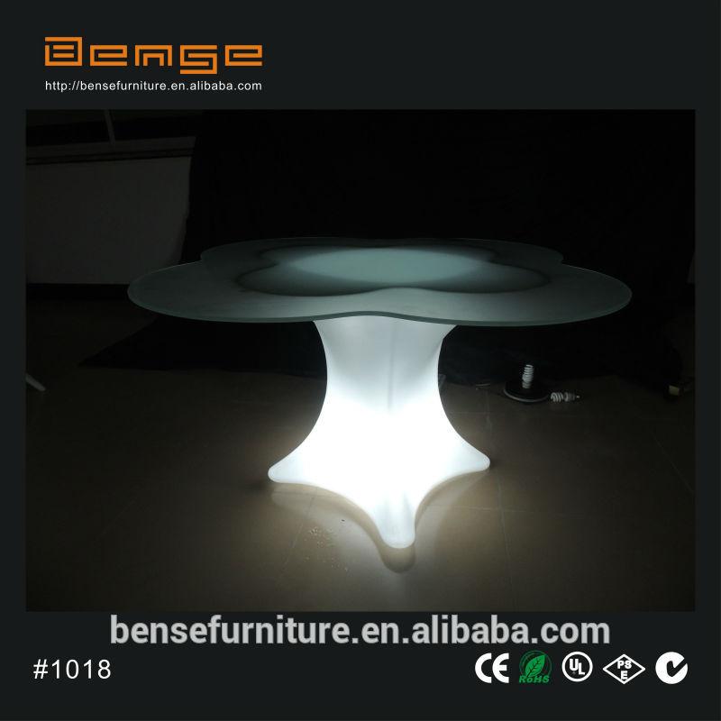 LED 조명 꽃 모양 테이블 낮은 커피 테이블 조명 테이블 주도-바 ...