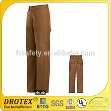FR brown canvas work pants