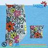 Microfiber printed folding beach towel bag pattern