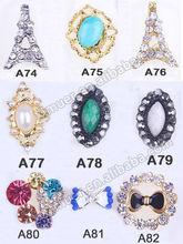 Fashion alloy rhinestone jewelry nail design