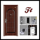 new style model steel security exterior steel security metal double door glass
