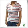 caliente la venta de china proveedor de impresión de tela de algodón deportes las mujeres camisa de polo camisetas