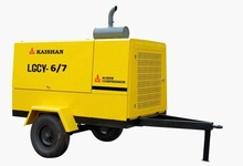LGCY-6-7 model Air capacity 6 m3/min and Work pressure 7Bar diesel engine driven air compressor / diesel engine air compress