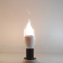 LED candle light 6W E14 400lm clear flame cover 85-265V