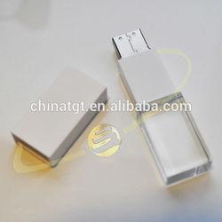led light crystal glass ja usb 2.0 flash drive