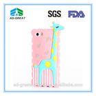 New Design Giraffe Shape Animal Silicone Phone Case