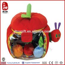 New toy China wholesale China supplier soft baby toys plush apple playset