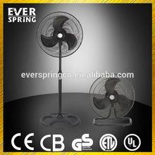 EVERSPRING long life 18 inch 2 in 1 fan stand fan black fan
