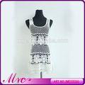 hot vendre des vêtements délicats tricot robe en dentelle motif