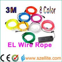 2.3mm EL wire with 2 generation , multi color el wire roll