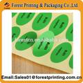 la costumbre de pared brillante pegatinas de impresión de etiquetas adhesivas de rollos de papel