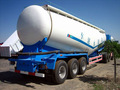 Material de polvo de transporte semi remolque / cemento camión cisterna remolque