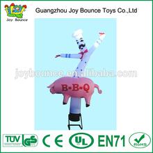 cheap inflatable advertising air dancer,inflatable cook air dancer,pig BBQ custom inflatable air dancer