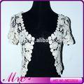 Venda quente moderna vestido de noiva barato com Lace Bolero Jacket