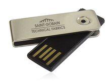 1GB Mini Swivel Custom Twist/swivel Flash Drive Key USB Unik Souvenir Promosi Murah untuk Perusahaan cle key drive mini pens 4gb