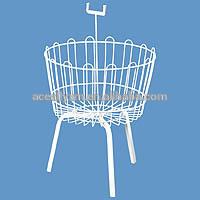 White Spinner Budget Basket Wire Dump