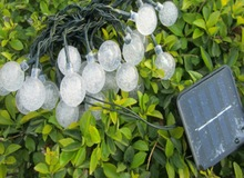 100 Solar Powered LED White string Lights Department Deals at Big Lots