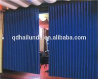 100% fullness flame retardant polyester fabric made acoustical drape as room divider