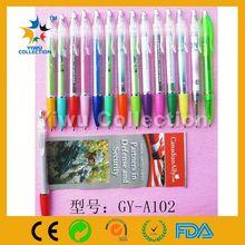 500PCS MOQ promotion gift cheap plastic keychain banner ballpoint pen