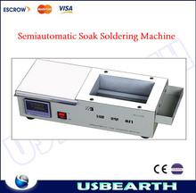 Semiautomatic soak soldering machine lead free solder pot / soldering machine / welding machine price ZB1510B