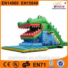 commercial giant cartoon dragon inflatable amusement water park slides