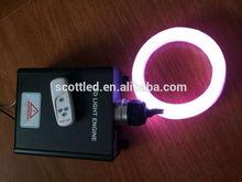 0.75mm led fiber light+45W led fiber engine+4keys rgb remote kit,AC110~220V input