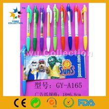 500PCS MOQ promotion gift cheap 2014 new high quality pulls pen