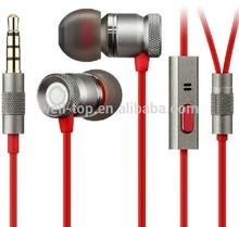 2014 Sport Earphone Athlete Stylish Power Super Bass Metal Earphone headphone free sample