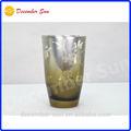 de alta calidad exclusiva de plata elegante de vidrio esmerilado taza de baño vaso