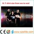 Muitos tamanho led t- shirt, levou equalizador t- shirt xxxl