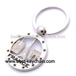 souvenir paris france metal custom key chain (KBK52230)