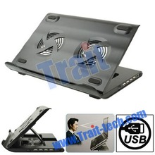 Wholesale Cooler Pad HH-S1001 4 USB 2.0 HUB Metal Feels Design Laptop Cooler/Cooling Pad